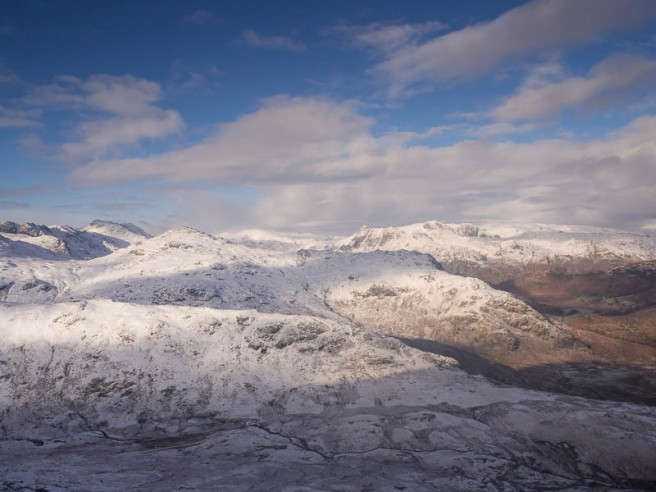 Langdale pikes, bowfell, crinkle crags, pike o'blisco