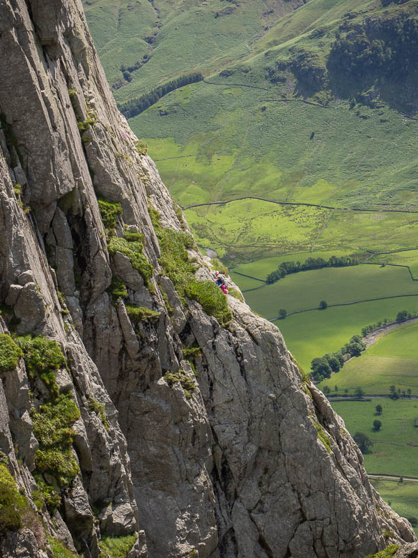 Climbers on Gimmer