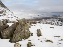 From Bwlch Tryfan looking to the outliers of the Carneddau