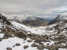 Nant Ffrancon looking towards Conwy from Bwlch Tryfan