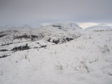 Red Screes seen from the Wansfell ascent in winter