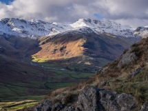 Bowfell, Crinkle Crags and the Band