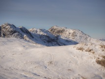 Crinkle Crags on the left