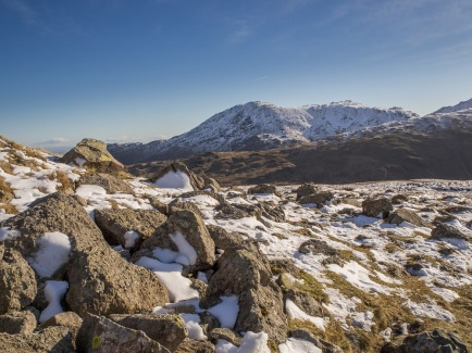 Wetherlam from the path to Red Tarn