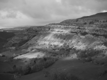 Creigiau Eglwyseg from Castell Dinas Bray