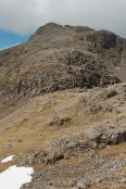 More rocky walking and scrambling from Pen summit to Scafell Pike