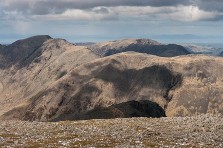 Kirk Fell, Pillar in the distance left, Ennerdale behind