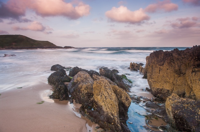 Sunrise at Port Or, known as Whistling Sands