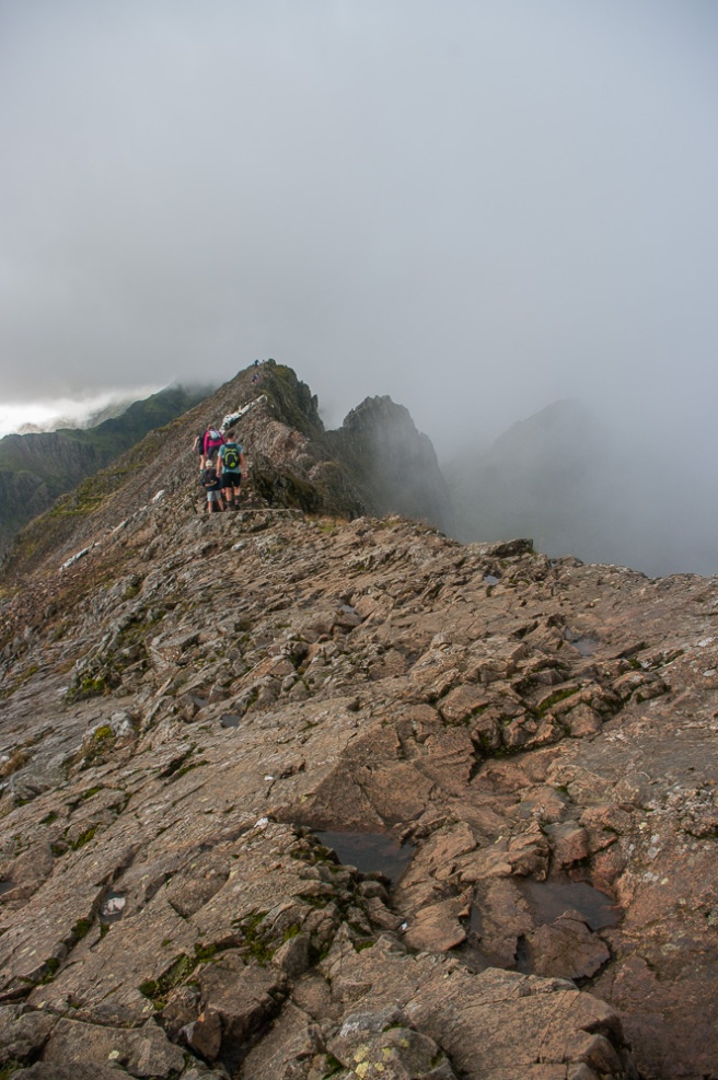 The start of the Crib Goch traverse