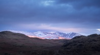 The Helvellyn range at last light