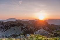 Sunset over the Nantlle Ridge