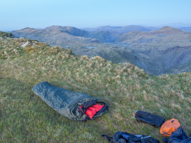 My bed for the night on Cnicht summit