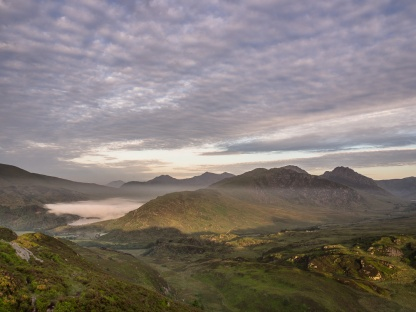 Snowdon and the Glyders at dawn