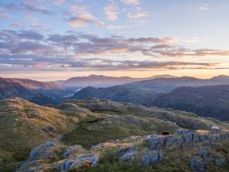 Skiddaw and Blencathra sunrise