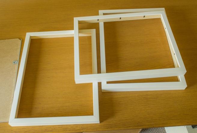 Newly made frames
