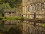 Gibson Mill and the lower mill pond