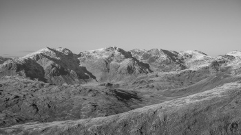The Scafell range from Dow Crag