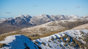The Scafell range from Coniston Old Man