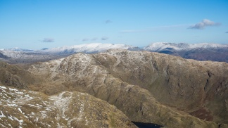 Wetherlam, Helvellyn and Fairfield from Coniston Old Man