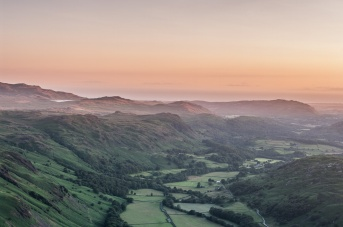 Eskdale and the Irish Sea from Border End