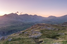 Scafells from Border End